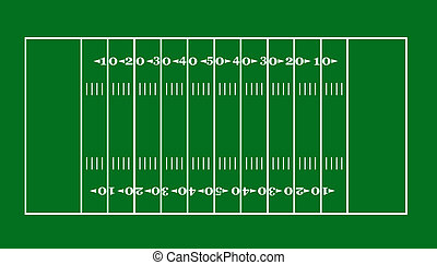 lay-out of an American football field