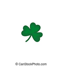 leaf clover icon isolated on white background.