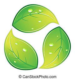Leafy Recycle Symbol