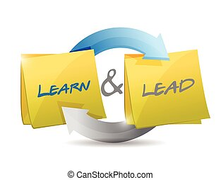 learn and lead cycle illustration design