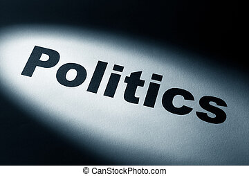 light and word of politics for background