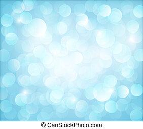 Light blue Vector bokeh background