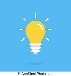 Light bulb icon. Vector flat icon