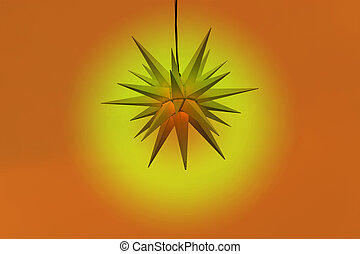 Lighted Christmas star made of paper
