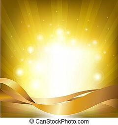 Lights Backgrounds With Sunburst, Vector Illustration