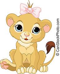 Lion girl cub