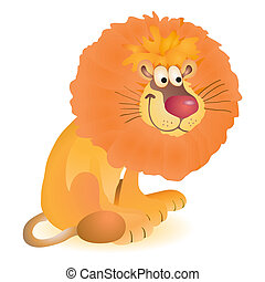 Little funny toy sitting lion