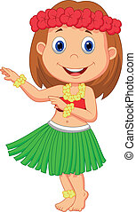 Little Hula Girl cartoon