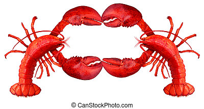 Lobster Blank Sign