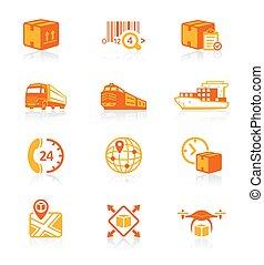 Logistics icons || JUICY series