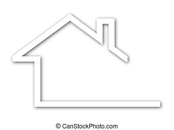 Logo - a house with a gable roof - Illustration