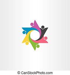 logo people group team vector symbol element