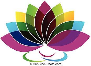 Lotus Flower identity card logo vector