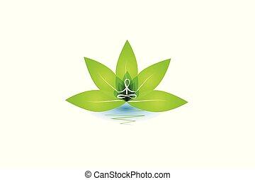 Lotus yoga man logo