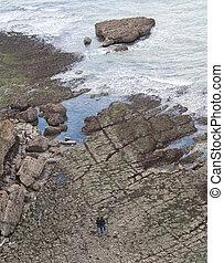 Low tide at Etretat. France. Normandy