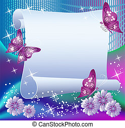Magic background with paper