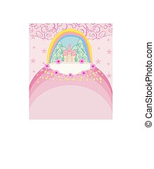 Magic Fairy Tale Princess Castle card