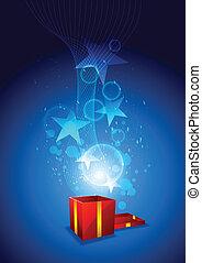 magic from giftbox