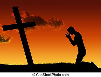 Man and prayer