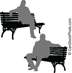 man and woman sitting on the bench