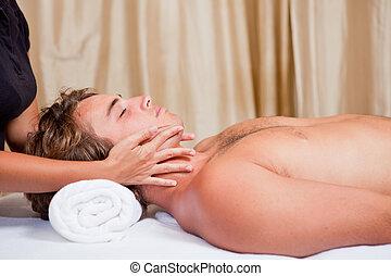 man at massage spa