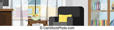 Man sitting at the desk and working