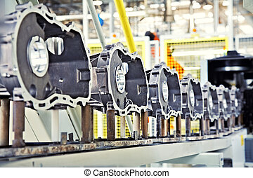 manufacturing parts for car engine