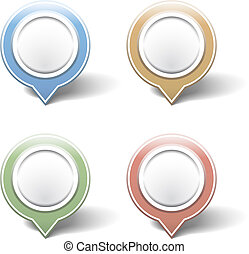 Map pins on white background, vector eps10 illustration