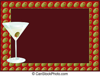 Martini invitaion with room for your text