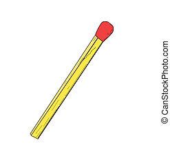 Match - vector illustration.
