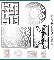 maze game activities collection with solutions