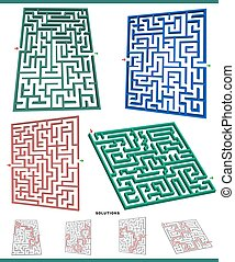 maze games graphs set with solutions