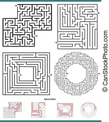 maze games set with solutions