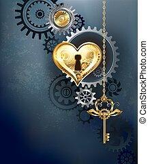 Mechanical heart with key