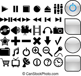 Media vector icons