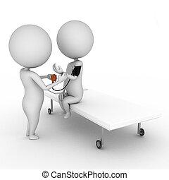 3d rendered illustration of a little doctor