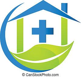 Medical symbol nature business logo