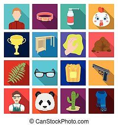 medicine, education, hobbies and other web icon in flat style. leisure, nature, hygiene icons in set collection.