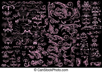 Mega huge collection of vector decorative elements and calligraphic flourishes