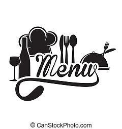 menu design over white background vector illustration