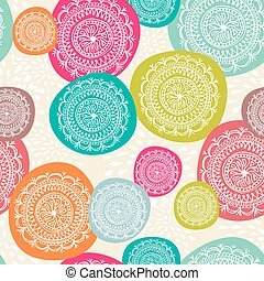Vintage Merry Christmas circle elements seamless pattern background. EPS10 vector file organized in layers for easy editing.