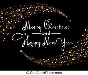 Merry Christmas Star card template