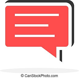 message in simple speech bubble icon