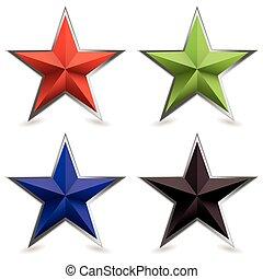 metal bevel star shape