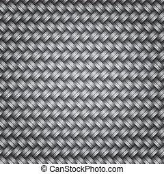 Metal fiber wicker texture background, vector illustration