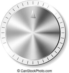 Metal round button