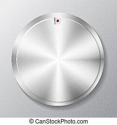Metal round button multimedia
