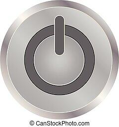 Metal round button on energy