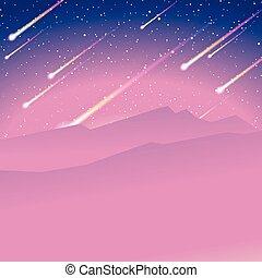 meteor shower background