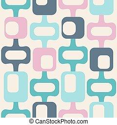 mid century style seamless pattern